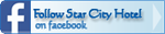 Follow Star City Hotel on facebook